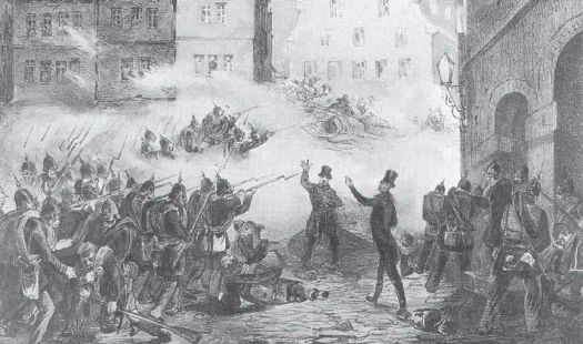 For the Germans, the experiment ended in death behind the barricades (Image source Wikimedia Commons)