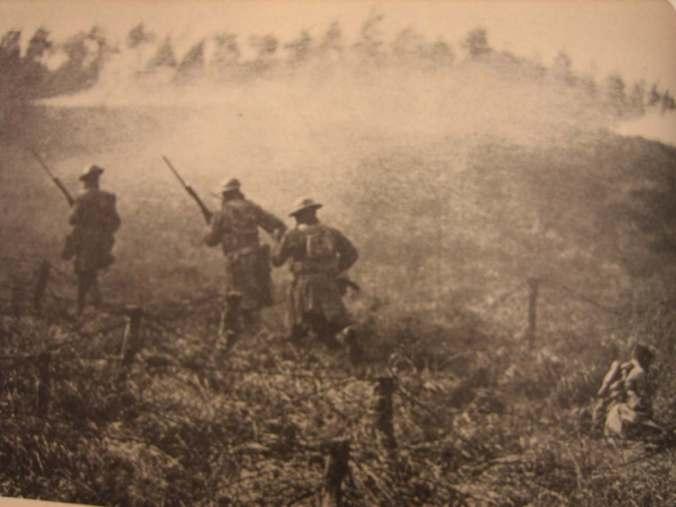 American troops advance